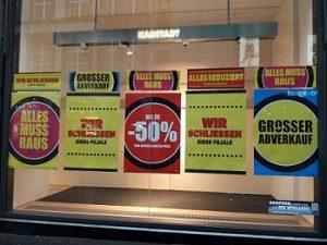 Ausverkauf bei Karstadt